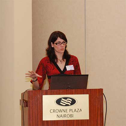 Aurélie Letellier, fondatrice de Dream Wild, lors d'une conférence