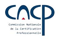 Commission Nationale de la Certfication Professionnelle